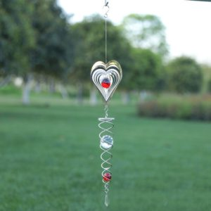 Foldable Metal Sheets Iron Wire Wind Chimes Home Garden Decoration(W011)