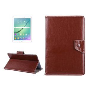 10 inch Tablets Leather Case Crazy Horse Texture Protective Case Shell with Holder for Asus ZenPad 10 Z300C, Huawei MediaPad M2 10.0-A01W, Cube IWORK10(Brown)