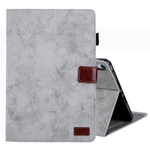 For iPad Pro 11 inch (2018) Business Style Horizontal Flip Leather Case, with Holder & Card Slot & Photo Frame & Sleep / Wake-up Function(Grey)