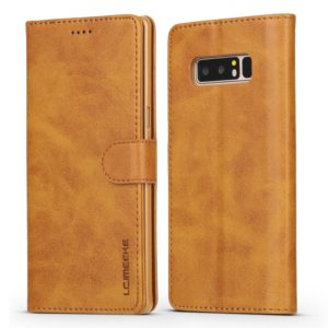For Galaxy Note 8 LC.IMEEKE Calf Texture Horizontal Flip Leather Case, with Holder & Card Slots & Wallet(Yellow) (LC.IMEEKE)