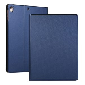 For iPad 10.2 Voltage Elastic Leather TPU Protective Case with Holder(Dark Blue)