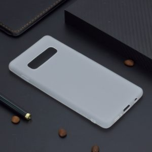 For Galaxy S10+ Candy Color TPU Case(White)
