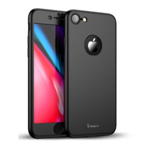 IPAKY Θήκη iPhone 8 4.7 IPAKY Original Full Protection PC Matte Cover + Screen Protector-Black