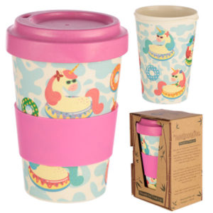 Bambootique Eco Friendly Unicorn Design Travel Cup/Mug