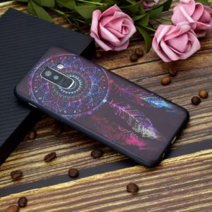Painted Soft TPU Protective Case For Galaxy A6+ (2018)(Feather Windbell)