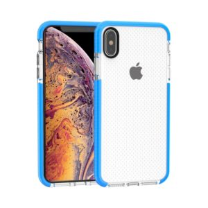 Basketball Texture Anti-collision TPU Case for iPhone XS Max(Blue)
