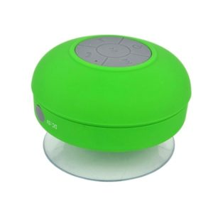 Mini Portable Subwoofer Shower Wireless Waterproof Bluetooth Speaker Handsfree Receive Call Music Suction Mic for iPhone Samsung(Green)