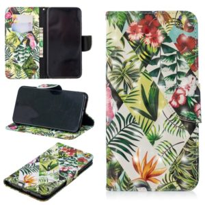 3D Colored Drawing Pattern Horizontal Flip Leather Case for Xiaomi Poco F1, with Holder & Card Slots & Wallet(Banana Leaf)