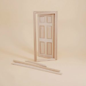 1:12 Doll House Mini Furniture Model White Blank Solid Wood Door