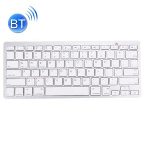 BK-3001 Bluetooth Wireless 78 Keys Ultrathin Keyboard for Windows / iPad / iPhone(Silver)