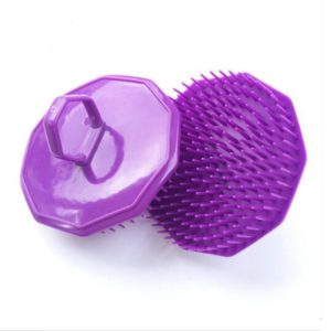 3 PCS Handheld Silicone Scalp Massage Brush Head Meridian Massage Comb(Purple)