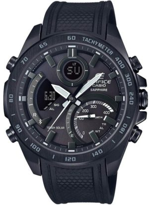 Casio ECB-900PB-1AER Edifice Bluetooth Solar Black Rubber Strap