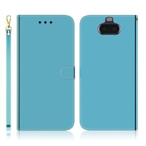 For Sony Xperia 20 Imitated Mirror Surface Horizontal Flip Leather Case with Holder & Card Slots & Wallet & Lanyard(Blue)