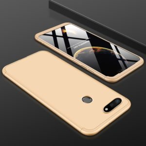 GKK Three Stage Splicing Full Coverage PC Case for Xiaomi Mi 8 Lite (Gold) (GKK)